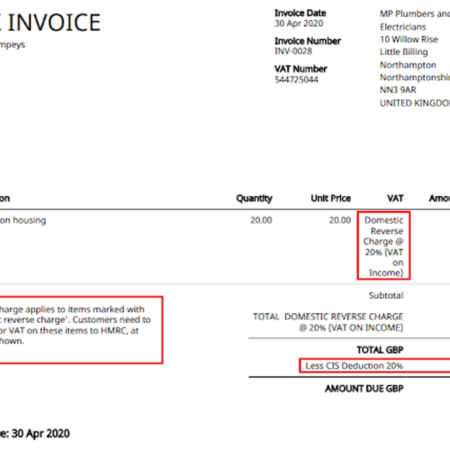 reverse charge VAT